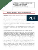 Déclaration CGT au CER du 27 AOUT 2013 C