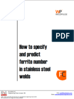 How to Specify and Predict Ferrite Number in Stainless Steel Welds