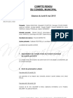 Mignovillard - Compte rendu du Conseil municipal du 6 mai 2013