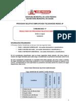 Comunicado 17 - Resultado Processo Seletivo Simplificado