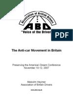 Anti Car Movement in Britain