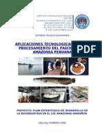 BIO4.2-C Aplicaciones Tecnologicas Procesamiento Paiche-ITP