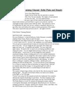 Reiki Plain and Simple Master Manual