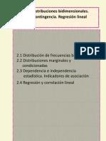 Distribuc. Bidimensionales y Regresión