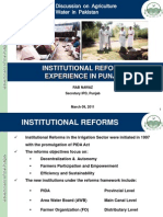 Institutional reform experience in Punjab