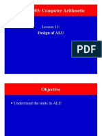 ALU design and operations