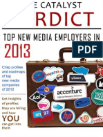 Catalyst Verdict Reoprt Top New Media Employers in 2013
