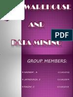 Data Mining & Warehousing- Presentation