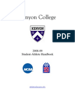 Kenyon College Student Athlete Handbook