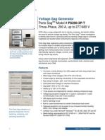 Porto Sag PS200-3P-T Spec Sheet