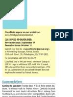 Friends Journal's Quaker Classifieds -September 2013