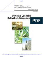 Domestic Cannabis Cultivation Assessment 2007