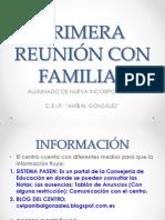 PRIMERA REUNIÓN CON FAMILIAS