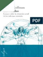 Goffman - Internados; Ensayos sobre la situación social de los enfermos mentales