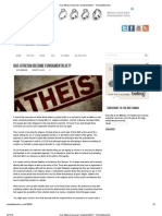 Has Atheism Become Fundamentalist_ - DAMIEL the Backbencher