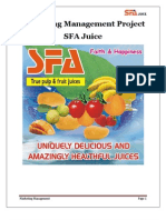 Project on SFA Juice