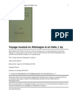 Voyage Musical en Allemagne