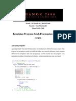 ghaNOZ 2480 - Kesalahan Program_Salah Penempatan Statement return