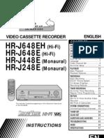 Manual Jvc Hr-j448e