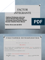 Factor Integrante