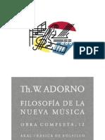 Adorno,Theodor - Filosofia de la nueva música.