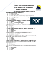 Examen Educacion Vial Conduespol Estudiantes