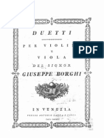 Borghi, Giuseppe. Borghi G. 6 Duetti a Violino e Viola