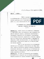 Ley 4992 - Legalización y autenticación de documentos expedidos por los poderes