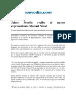 Jaime Perello Recibe Al Nuevo Representante Manuel Natal