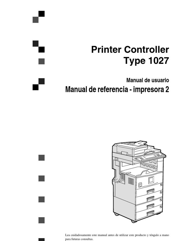 Lanier 5622 5627 Manual de Impresora 2 Af1022Print_REF2_OI