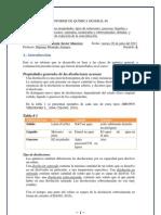 Informe de Quimica 8