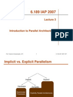 Introduction to Parallel Architectures