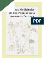 Plantas Medic in Ales de Uso Popular en La Amazonia Peruana