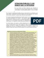 Administracion Publica y Los Organismos Que La Integran