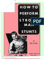 How to Perform Strong Man Stunts by Ottley R. Coulter