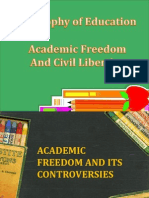 Academic Freedom and Civil Liberty in Education