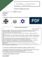 Simulado de Religião 8ªAB