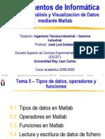 Matlab--Tipos de Datos, Operadores y Funciones