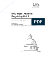 Analysis of the tentative MOU for California Statewide Law Enforcement Association