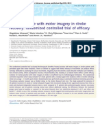 Mental pratice with motor imagery in strock recovery