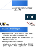 SAMM - Software Assurance Maturity Model