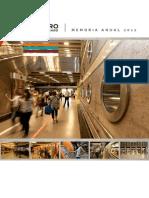 Metro - Memoria Anual 2012