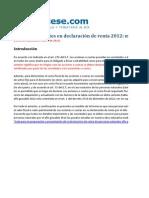 Modelo Anexo Acciones y Aportes Declaracion 2012 Persona Natural