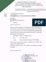 Surat Pemanggilan UKA 2013