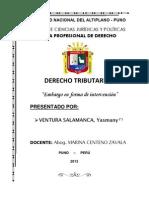 EMBARGO EN FORMA DE INTERVENCIÓN  - VENTURA SALAMANCA, Yasmany