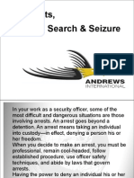 Arrests, Search & Seizure