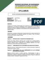 Ee-353 Analisis de Sistemas de Potencia i