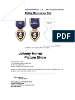 Military Resistance 11I1 Johnny Horror Picture Show