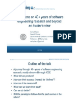 Reflections on 40+ Years of Software Engineering Research And