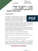 1-Congreso Nacional de Teatro y Circo 2013